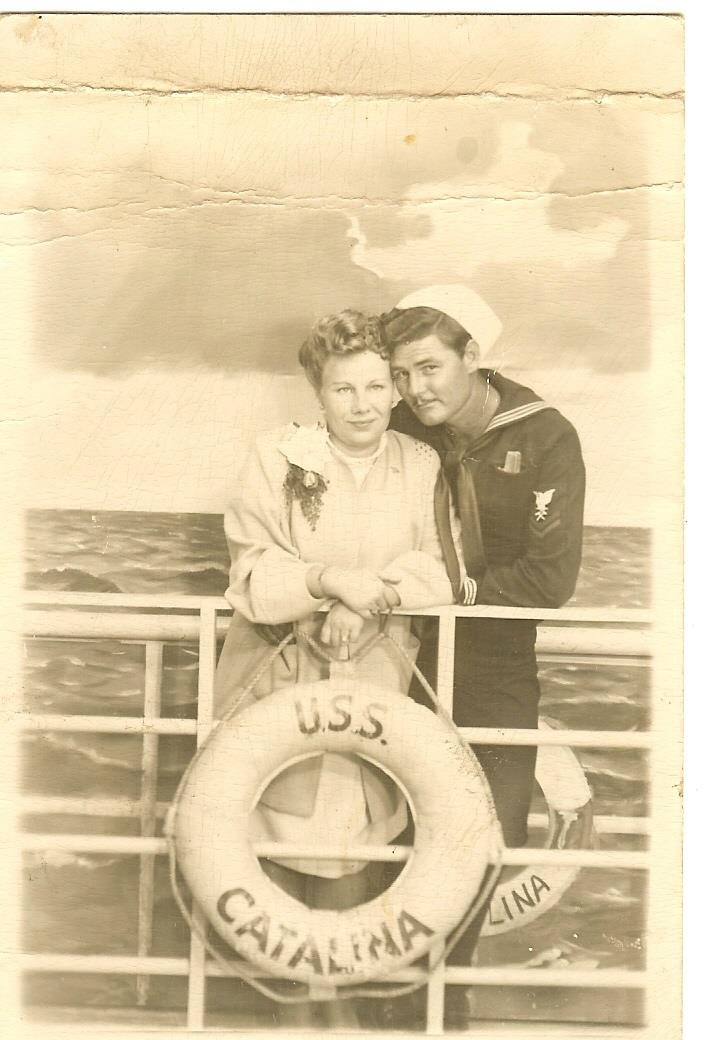 Photograph of Irene Winter and an unknown man