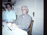 Photograph of Anna Jorgensen and Chris Jorgensen (taken at Anna's house in Sidney, probably taken Christmas time early to mid 1960s)