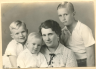 Portrait of Ona Fritz with her three sons.